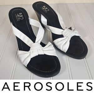 A2 by Aerosoles Sz 10 Wedge Sandals